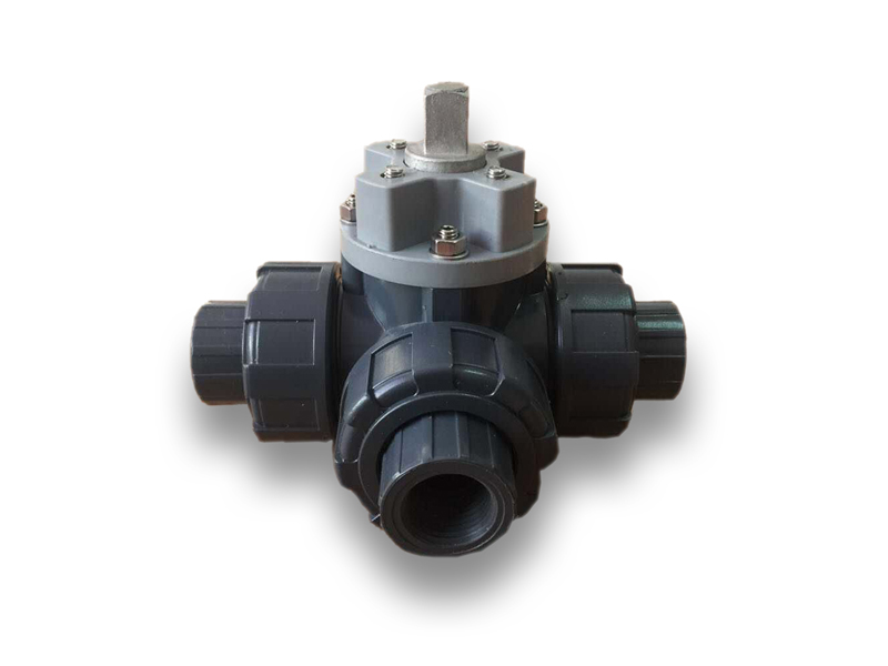 PVC 3 Way Ball Valve For Actuator