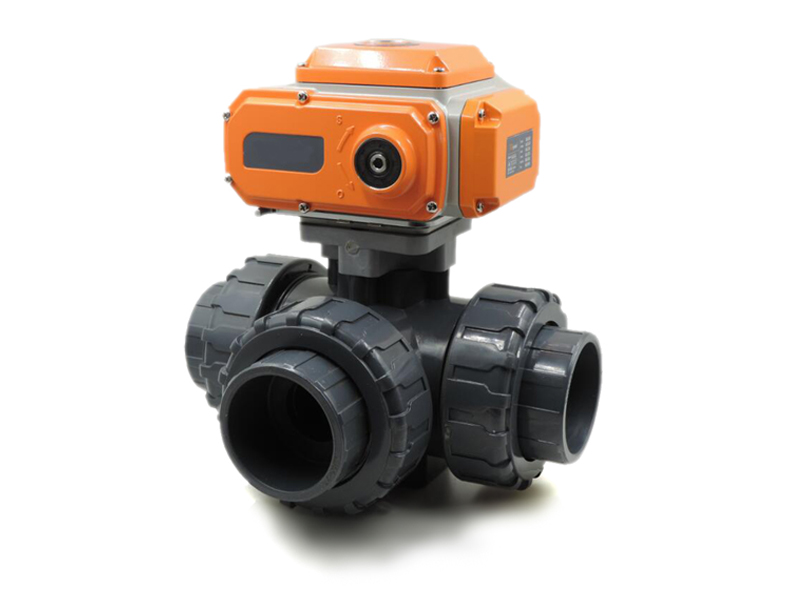 Motorized PVC 3 Way Valve